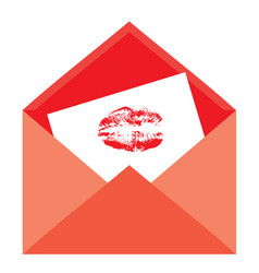 envelope kiss vector image