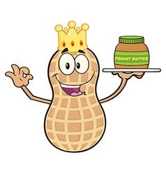 King peanut cartoon vector