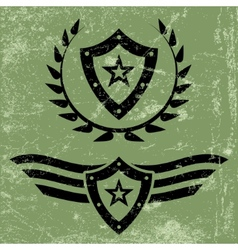 Military style grunge emblems vector image vector image