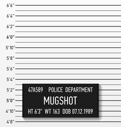 Police mugshot vector image vector image