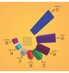 colorfull 3d infographics vector image vector image