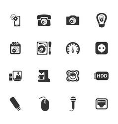 electronics repair icons set vector image