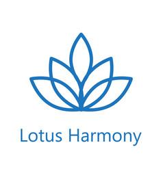 lotus flower logo icon vector image vector image