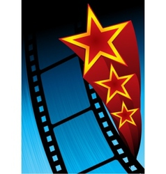 Movie poster vector image vector image
