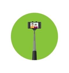 Selfie icon with monopod vector image
