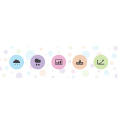 5 forecast icons vector