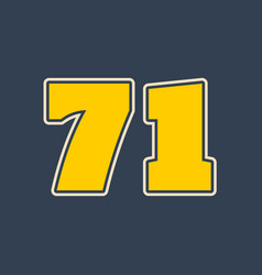 71 number vector image
