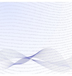abstract wave background in blue vector image