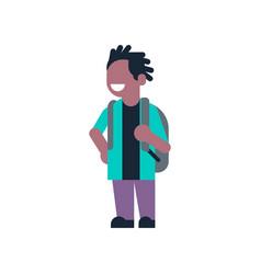 African american backpack school children vector