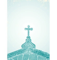 An engraving church vector