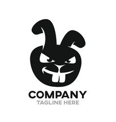 Angry rabbit logo vector
