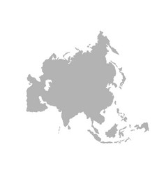 asia outline world map vector image