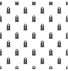 Asian temple pattern seamless vector