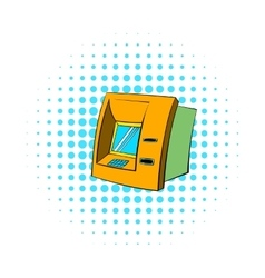 ATM icon comics style vector image