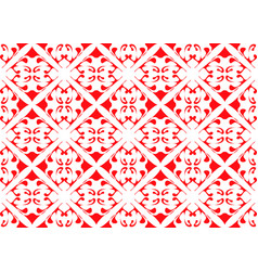 background ethnic red ornament for tile vector image