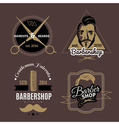 Barbershop Emblems Set vector