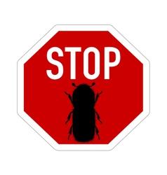 Bark-beetle stop sign vector