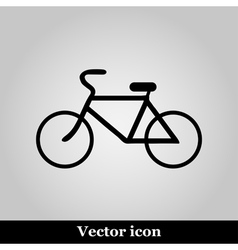 Bicycle icon on grey background vector