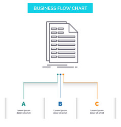 Bill excel file invoice statement business flow vector