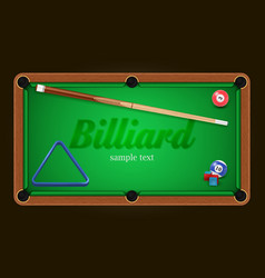 billiard poster pool table background vector image