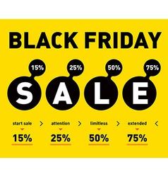 Black friday sale poster on light background vector image