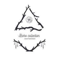 bohemian style collection for tattoo vector image