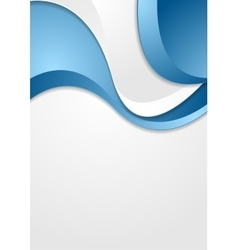 Bright blue grey wavy abstract corporate vector image