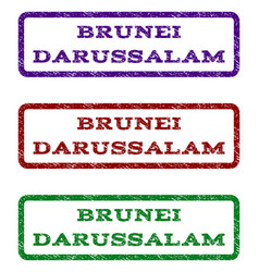 Brunei darussalam watermark stamp vector
