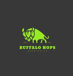 buffalo hops logo vector image