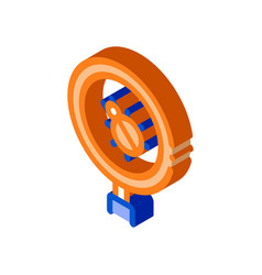 Bug magnifier isometric icon vector