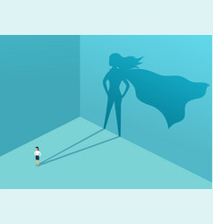 businesswoman with shadow superhero super manager vector image