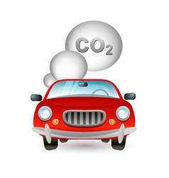 Car pollution icon vector