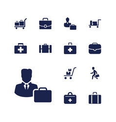 Case icons vector