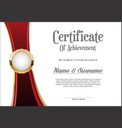 Certificate or diploma retro vintage template 007 vector