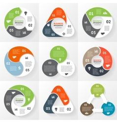 circle triangle infographics set template vector image