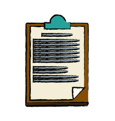 Clipboard paper report document business vector