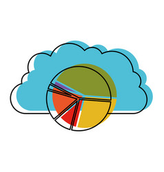 Cloud storage data service icon and available vector