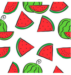 Collection of red fruit doodles vector