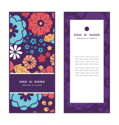 colorful bouquet flowers vertical frame pattern vector image