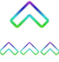 Colorful line arrow logo design set vector