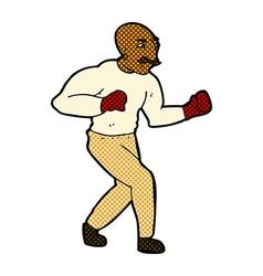 Comic cartoon boxer vector