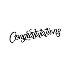 congratulations hand written lettering vector image