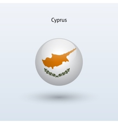Cyprus round flag vector image