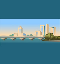 day city landscape road vector image