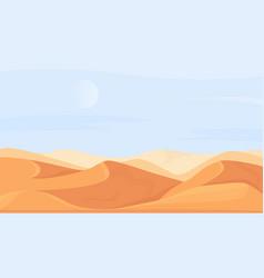 Desert nature landscape in africa cartoon vector