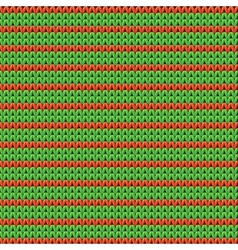 Detailed knitted striped red-and-green pattern vector