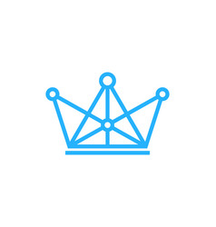 digital king logo icon design vector image