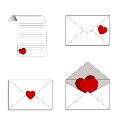 Envelopes and letters with declarations of love vector