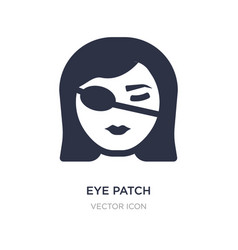 Eye patch icon on white background simple element vector