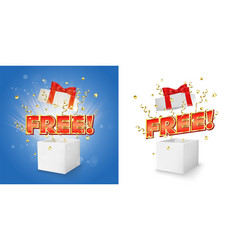 Free gift box concept for banner poster vector